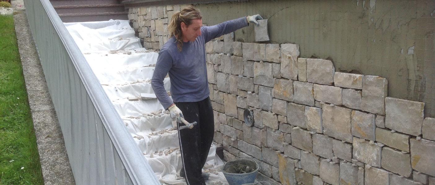 Chi siamo artigiani pietra credaro lavori in pietra di for Costo per costruire pilastri di pietra